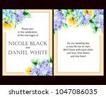 invitation with floral... | Shutterstock .eps vector #1047086035