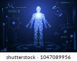 abstract health hud ui... | Shutterstock .eps vector #1047089956