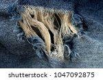 jean texture  close up texture... | Shutterstock . vector #1047092875
