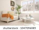 white room with armchair and... | Shutterstock . vector #1047096085