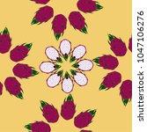 seamless vector pattern dragon... | Shutterstock .eps vector #1047106276