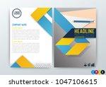 abstract modern flyers brochure ...   Shutterstock .eps vector #1047106615