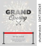 grand opening celebration... | Shutterstock .eps vector #1047108265
