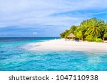 maldives  a true paradise in... | Shutterstock . vector #1047110938
