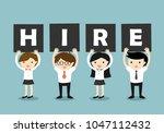 business concept  businessmen... | Shutterstock .eps vector #1047112432