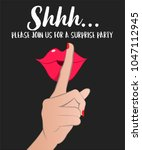 silent gesture shhh it's... | Shutterstock .eps vector #1047112945