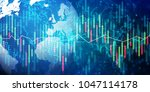 world network digital trading... | Shutterstock . vector #1047114178