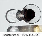 a glass of water on a white... | Shutterstock . vector #1047116215