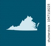 map of virginia   Shutterstock .eps vector #1047118225