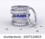 pile of eternity rings with... | Shutterstock . vector #1047124825