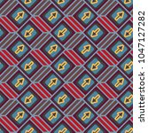 seamless abstract pattern with... | Shutterstock .eps vector #1047127282