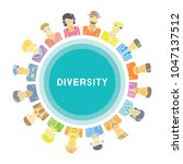 group of people for diversity... | Shutterstock .eps vector #1047137512
