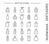 bottle icons set  line design | Shutterstock .eps vector #1047142492