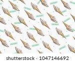 soft serve ice cream seamless... | Shutterstock .eps vector #1047146692