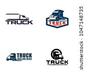 truck logo design | Shutterstock .eps vector #1047148735