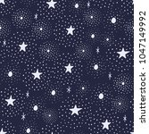 the seamless pattern with stars ... | Shutterstock .eps vector #1047149992