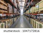interior of warehouse | Shutterstock . vector #1047172816