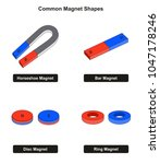 common magnet shapes examples... | Shutterstock .eps vector #1047178246