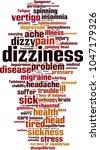 dizziness word cloud concept.... | Shutterstock .eps vector #1047179326
