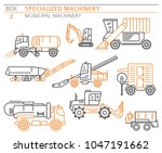 special industrial road and... | Shutterstock .eps vector #1047191662