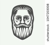 vintage beardman lumberjack in...   Shutterstock .eps vector #1047203008