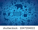 russian pattern wallpaper... | Shutterstock .eps vector #1047204022