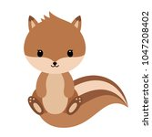 adorable squirrel in modern... | Shutterstock .eps vector #1047208402