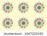 snowflakes radial beige  blue... | Shutterstock . vector #1047223192