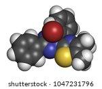 mtt yellow tetrazole dye... | Shutterstock . vector #1047231796
