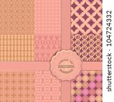 vintage collection of seamless  ... | Shutterstock .eps vector #104724332