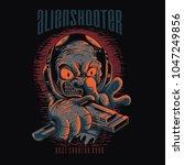 alien shooter illustration   Shutterstock .eps vector #1047249856