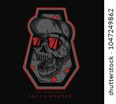 skull graver illustration   Shutterstock .eps vector #1047249862