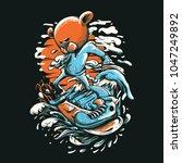 snow board illustration   Shutterstock .eps vector #1047249892