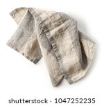 linen napkin isolated on white... | Shutterstock . vector #1047252235