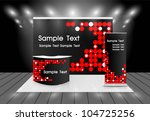 trade show booth | Shutterstock .eps vector #104725256