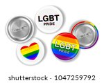 lgbt pride and flag on steel... | Shutterstock .eps vector #1047259792