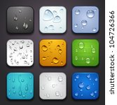 app,apple,application,aqua,art,background,blue,bright,button,clean,clear,closeup,color,condensation,cool