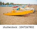 emilia romagna  italy  boats on ... | Shutterstock . vector #1047267802
