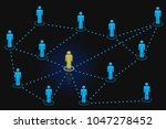 human resources network icons... | Shutterstock . vector #1047278452