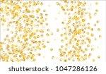 big gold confetti. festive... | Shutterstock .eps vector #1047286126