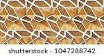 3d white loft lattice tiles on... | Shutterstock . vector #1047288742