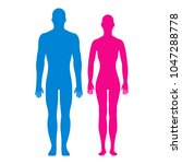 man and woman silhouette.... | Shutterstock .eps vector #1047288778