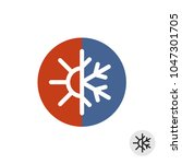 hot and cold round sign.... | Shutterstock .eps vector #1047301705