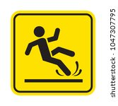 wet or slippery floor. man... | Shutterstock .eps vector #1047307795