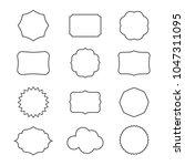 vector set of decorative frames ... | Shutterstock .eps vector #1047311095