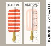 height chart for children | Shutterstock .eps vector #1047312565