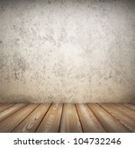 wooden floor and wall textured - stock photo