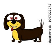 little dog   lovely little... | Shutterstock .eps vector #1047323272