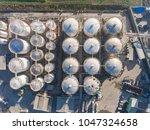 bird's eye drone photo of an... | Shutterstock . vector #1047324658