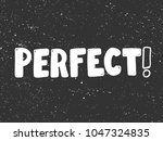 perfect  typography lettering... | Shutterstock .eps vector #1047324835